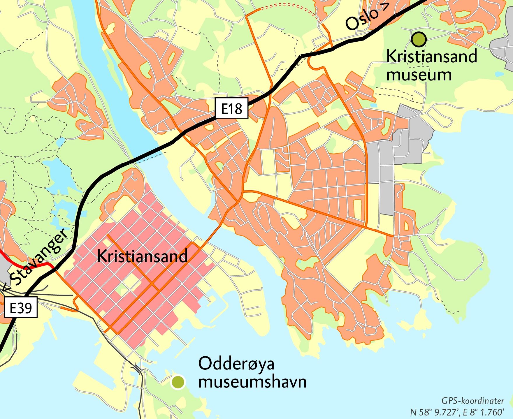kart kristiansand Vest Agder museet   Vi forteller din historie