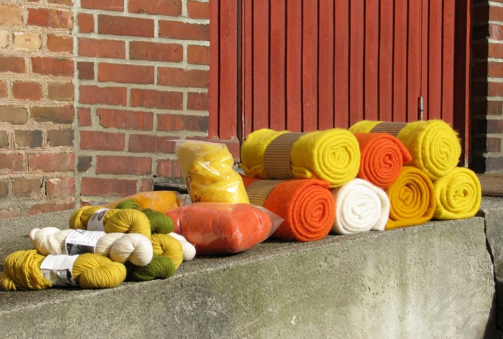 Kardet ull og filt fra Sjølingstad Uldvarefabrik