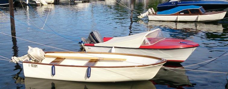 Skibsplast Sportsmann 13 fot fra 1960, Selco Select 13 fra 1963 og Ask Viking fra Askeladden fra 1962