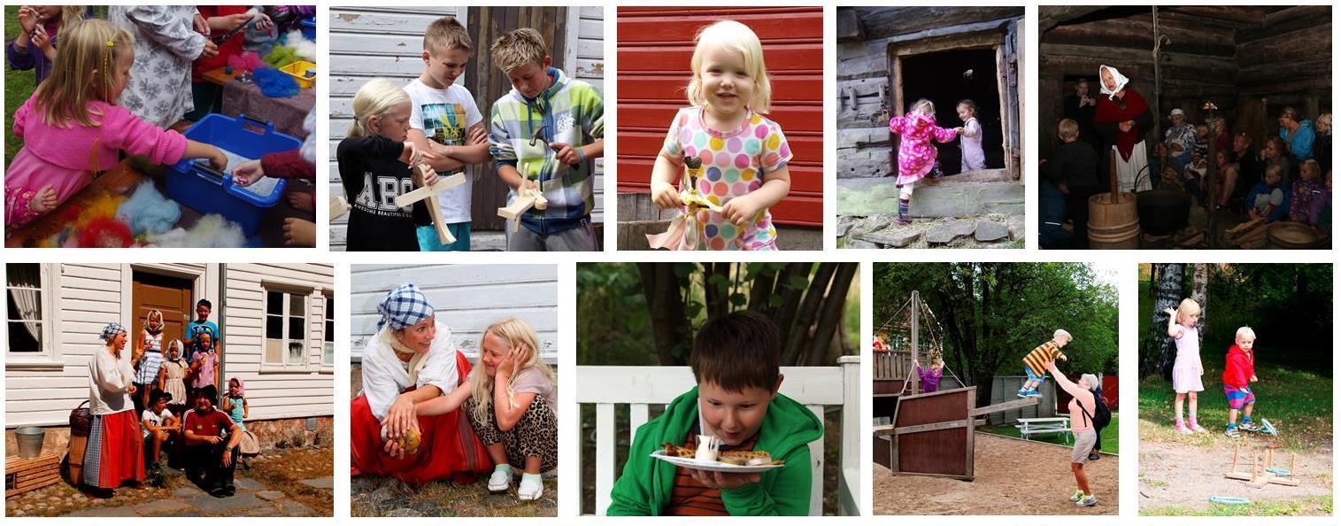 Barn på Kristiansand museum 2015