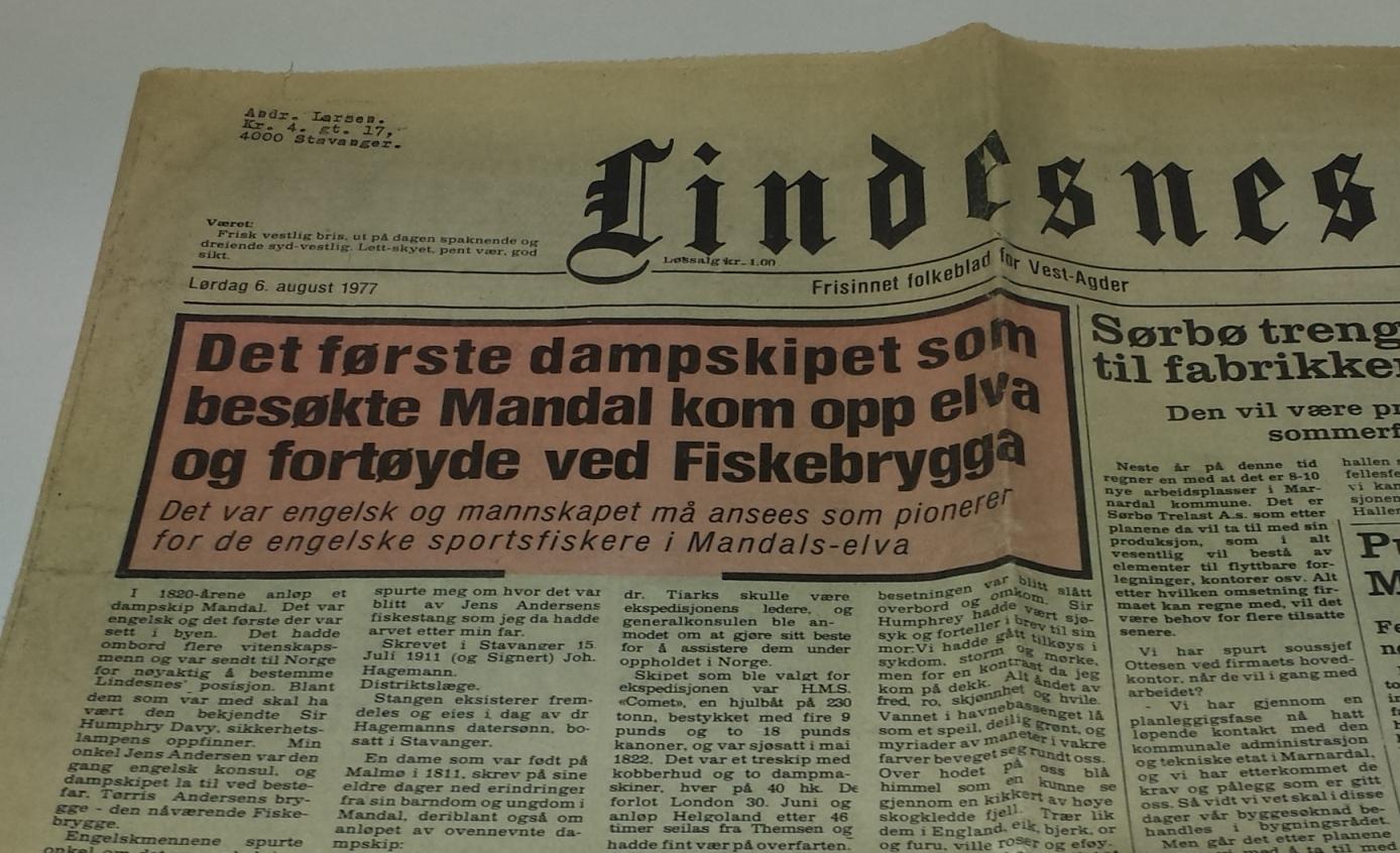Lindesnes avis 1977