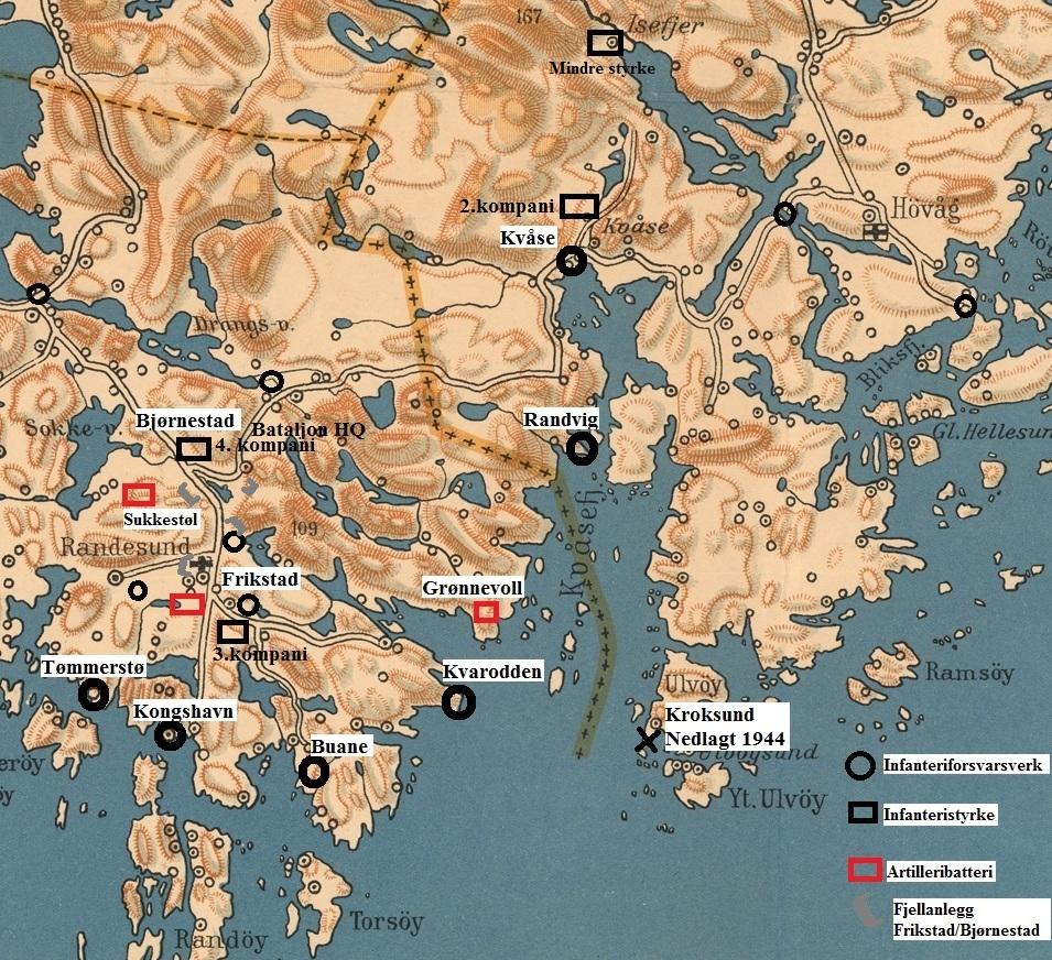 Randesund 1944_kart_forsvarsverk