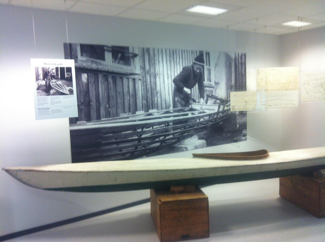 Roald Skibsrud egenprodusete kajakk. Foto Thorunn Lunnde