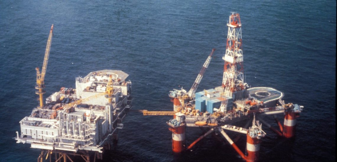 Bilde til Museumsaften-  Oljearbeider i Nordsjøen